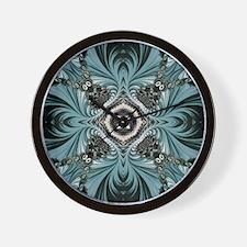 kaleido art fractal vintage Wall Clock