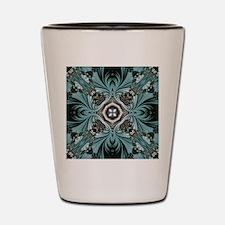 kaleido art fractal vintage Shot Glass