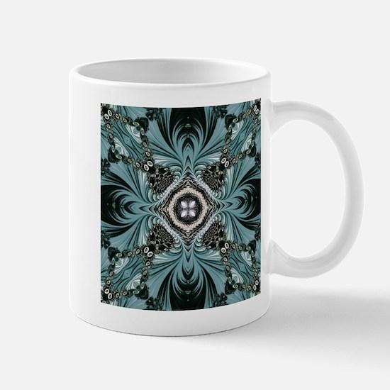 kaleido art fractal vintage Mugs