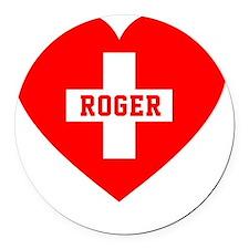 Roger Blanket 1 Round Car Magnet