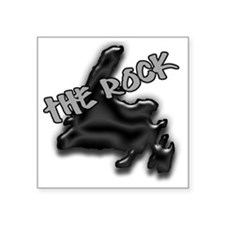 "The Rock Chrome Island with Square Sticker 3"" x 3"""