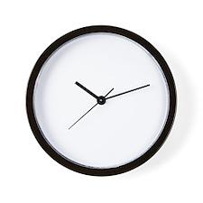 HuntingMarriageWhiteFont Wall Clock