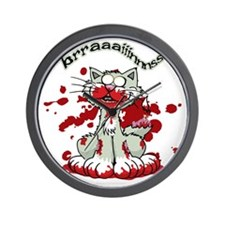 Zombie-Kitty-2 Wall Clock