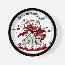 Zombie-Kitty-2 Wall Clock
