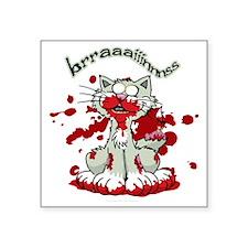 """Zombie-Kitty-2 Square Sticker 3"""" x 3"""""""