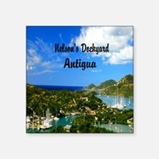 """Nelsons Dockyard Antigua52x Square Sticker 3"""" x 3"""""""