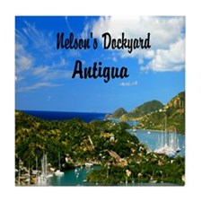 Nelsons Dockyard Antigua7.355x9.45 Tile Coaster