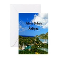 Nelsons Dockyard Antigua7.355x9.45 Greeting Card