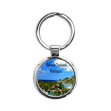 Nelsons Dockyard Antigua7.355x9.45 Round Keychain