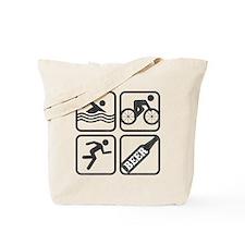 swimbikerunBeer-2 Tote Bag