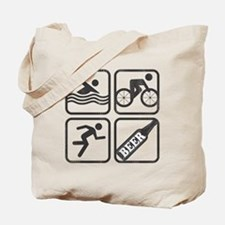 swimbikerunBeer-2 Tote Bag