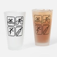 swimbikerunBeer-2 Drinking Glass