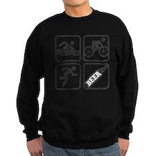 swimbikerunBeer-2 Sweatshirt