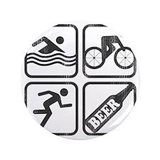 "swimbikerunBeer-2 3.5"" Button"