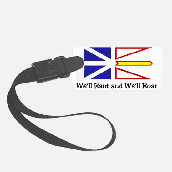 Rant and Roar NL Flag with blk t Luggage Tag
