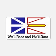 Rant and Roar NL Flag with  Aluminum License Plate