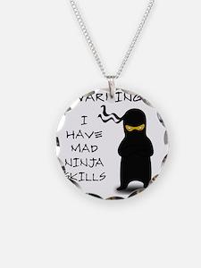 ninja warning Necklace