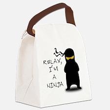 relax ninja Canvas Lunch Bag