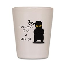 relax ninja Shot Glass