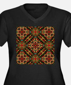 kaleido art stained glass Plus Size T-Shirt