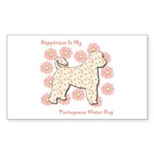 Portie Happiness Rectangle Decal