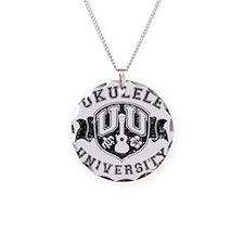 Ukulele University Necklace Circle Charm