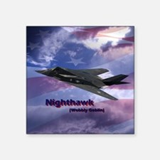 "nighthawk square Square Sticker 3"" x 3"""