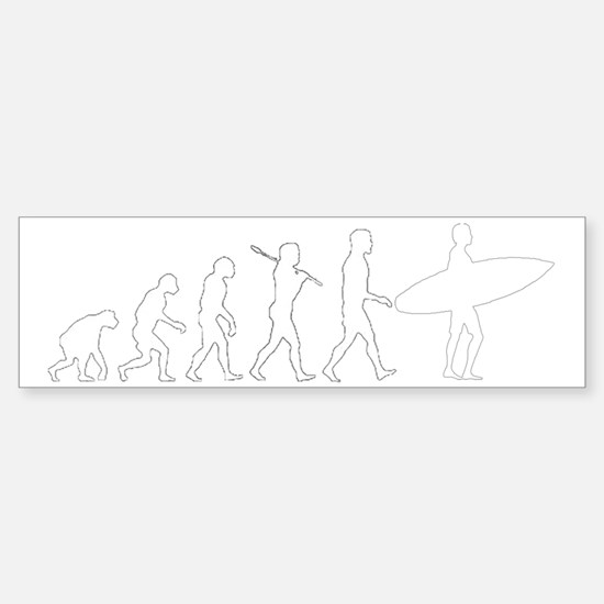 evolution_of_surf Sticker (Bumper)
