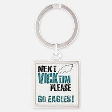 vicktim-eagles2 Square Keychain