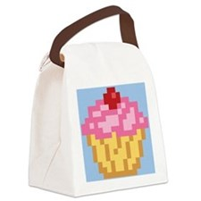 pixel-cupcake_b Canvas Lunch Bag