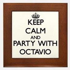 Keep Calm and Party with Octavio Framed Tile
