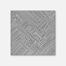 """skull optical illusion Square Sticker 3"""" x 3"""""""
