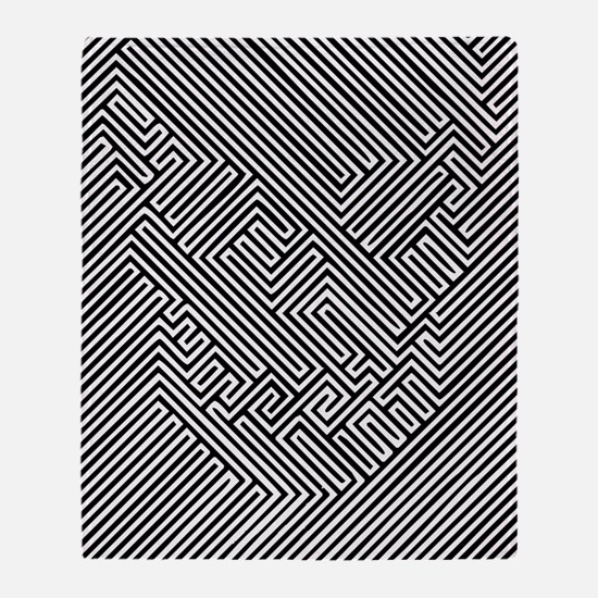 skull optical illusion Throw Blanket