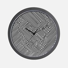 skull optical illusion Wall Clock