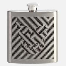 skull optical illusion Flask