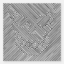 """skull optical illusion Square Car Magnet 3"""" x 3"""""""