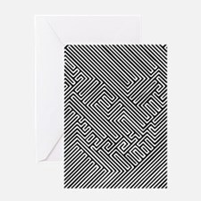 skull optical illusion Greeting Card