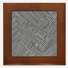 skull optical illusion Framed Tile