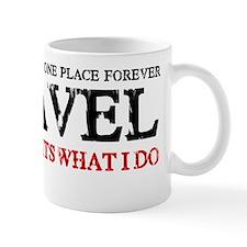 i travel (red  black) Mug