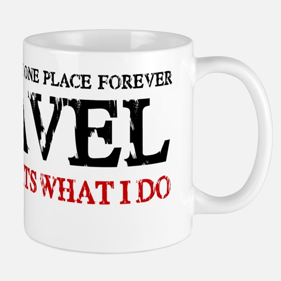 i travel (red  black) Mug
