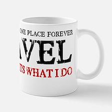 i travel (red  black) Small Small Mug