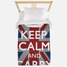 Keep Calm And Carry On with Union Jack( Twin Duvet
