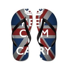 Keep Calm And Carry On with Union Jack( Flip Flops