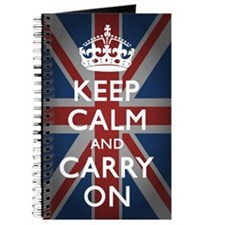 Keep Calm And Carry On with Union Jack(23x Journal