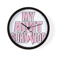 My Aunt is a Survivor Wall Clock