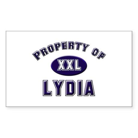 Property of lydia Rectangle Sticker