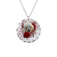 Valentine_Red_Rose_Poodle_Ap Necklace