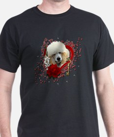 Valentine_Red_Rose_Poodle_Apricot T-Shirt