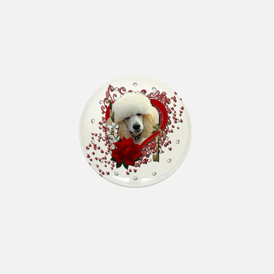 Valentine_Red_Rose_Poodle_Apricot Mini Button