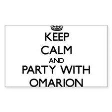 Keep Calm and Party with Omarion Decal